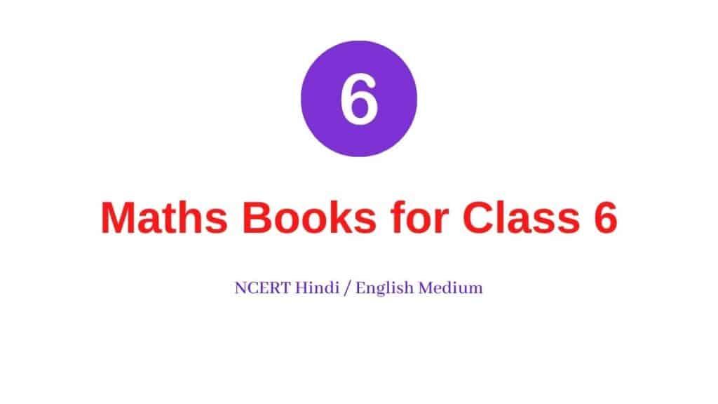 Maths Books for Class 6 NCERT Hindi English Medium