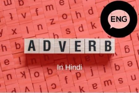 Adverbs in Hindi English